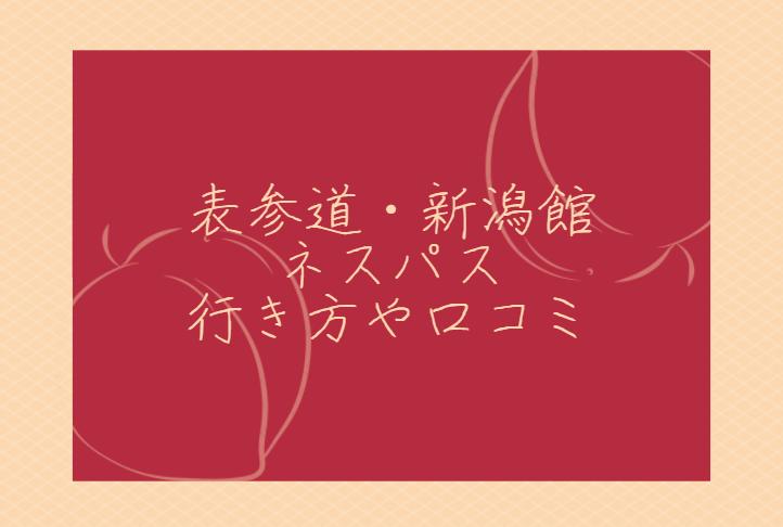 表参道・新潟館ネスパスの場所や行き方・口コミ