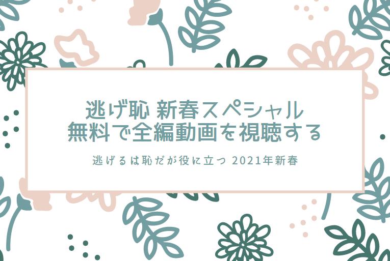 逃げ恥2021年新春スペシャルを見逃した人必見!無料で全編動画を視聴する方法を紹介!